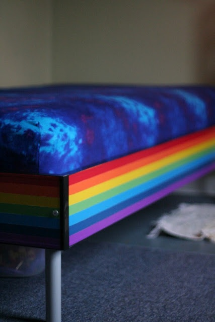 Ikea Hackers rainbow bed