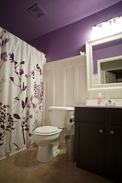 Infarrantly Creative purple bathroom