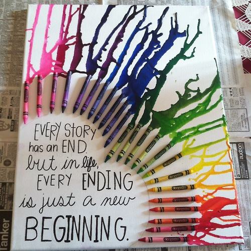 Infinity and Beyond crayon rainbow art