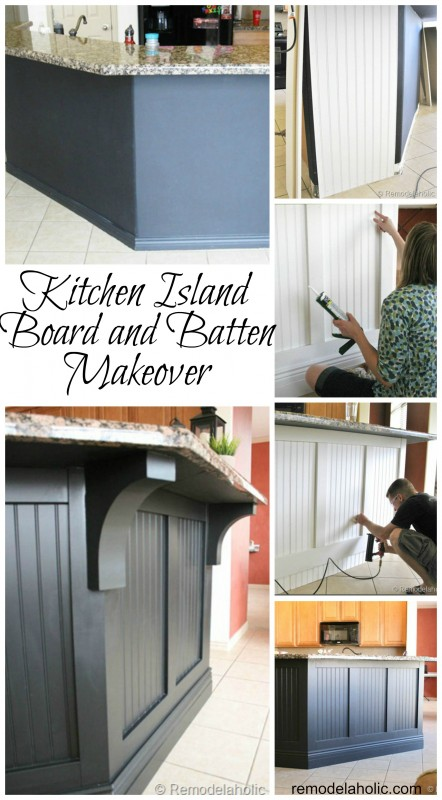 Kitchen Island Updated Board and Batten