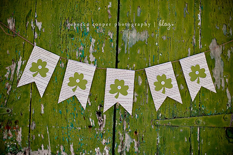 Lucky Banner for St. Patrick's Day by Simple As That Blog