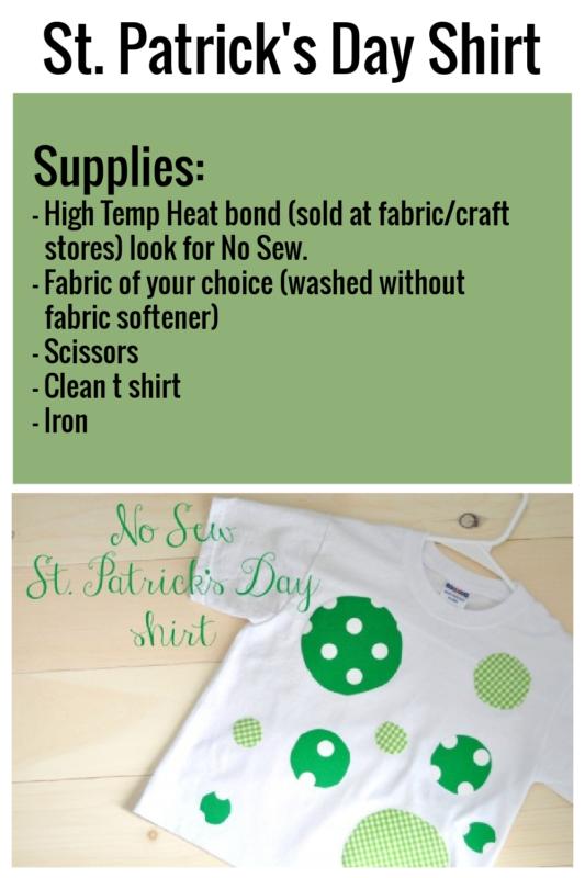 No Sew St. Patrick's Day Shirt DIY Via Remodelaholic.com
