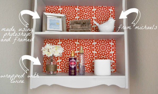 Our Love and Our Blessing bathroom shelf 20