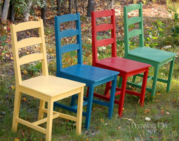 Pressing On painted chairs