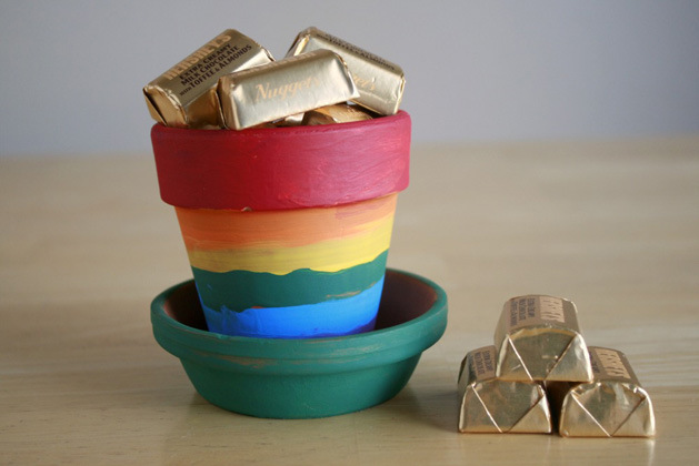 Rainbow Pots Makezine