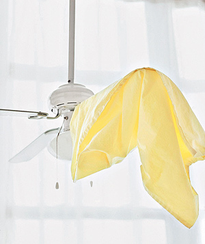 Real Simple cleaning ceiling fans