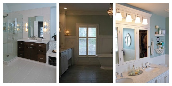 Spectacular Remodelaholic bathroom collage