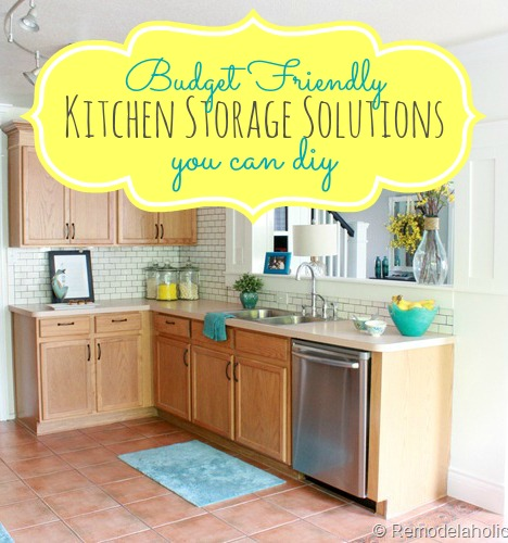 Inexpensive Kitchen Storage Ideas great budget kitchen storage ideas!