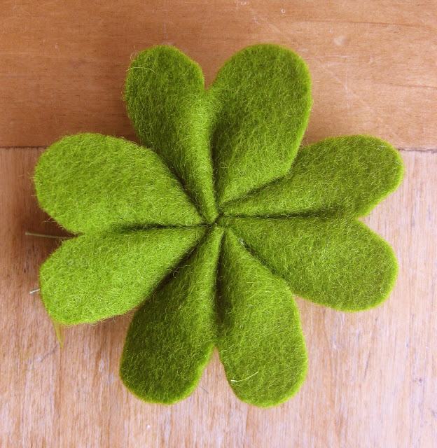 Shamrock Barrette for St Patrick's Day Paper and INk