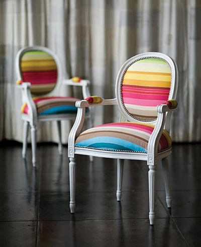 Small Shop Studio rainbow louis chair