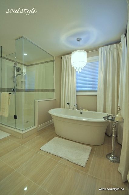 Remodelaholic | Elegant Neutral Bathroom Renovation