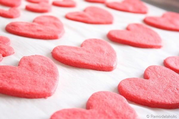 Remodelaholic | Kool Aid Cookies; Conversation Hearts