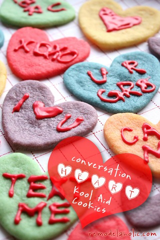 Valentine Converstaion Heart Cookies Koolaid Cookies Recipe (7a)