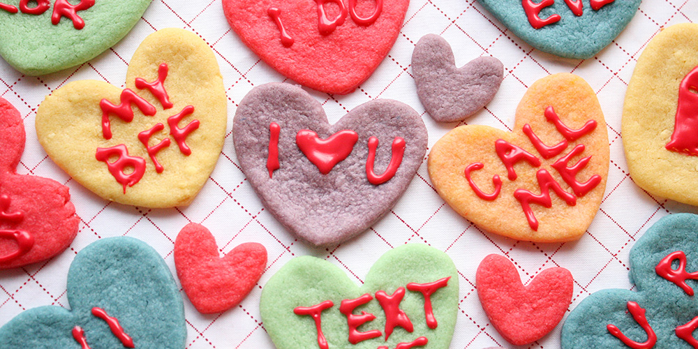 Kool Aid Cookies; Conversation Hearts