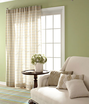 Window treatment ideas for sliding door