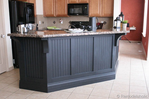 Black Board And Batten Kitchen Island Makeover 1