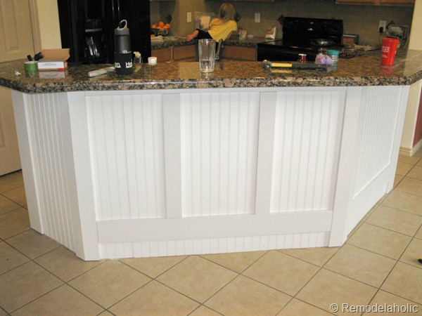 Attractive Black Board And Batten Kitchen Island Makeover 16 2