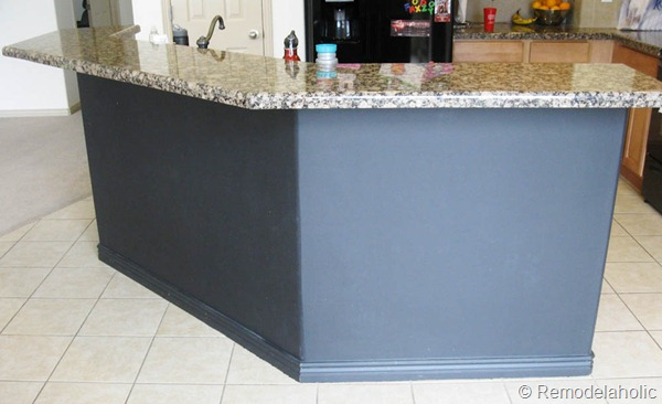 black board and batten kitchen island makeover-2-2