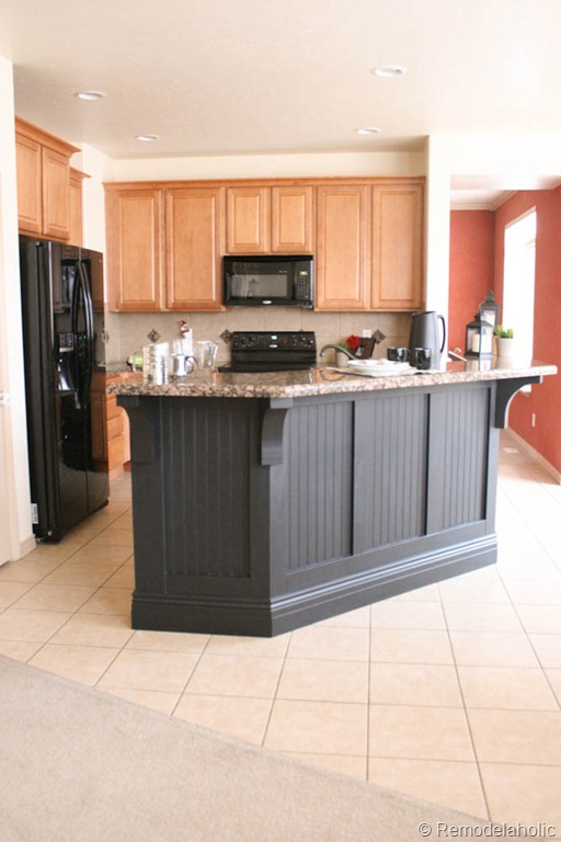 beadboard kitchen island remodelaholic kitchen island makeover with corbels part two 1534