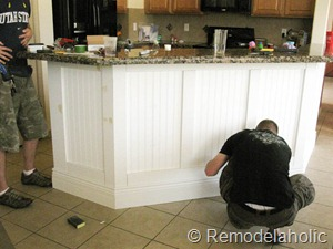 ... Black Board And Batten Kitchen Island Makeover 28 2
