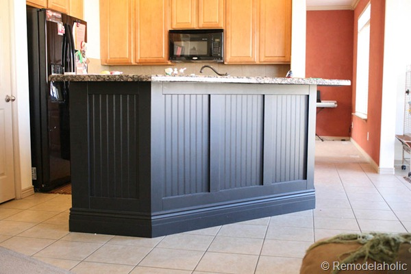 Great black board and batten kitchen island makeover d