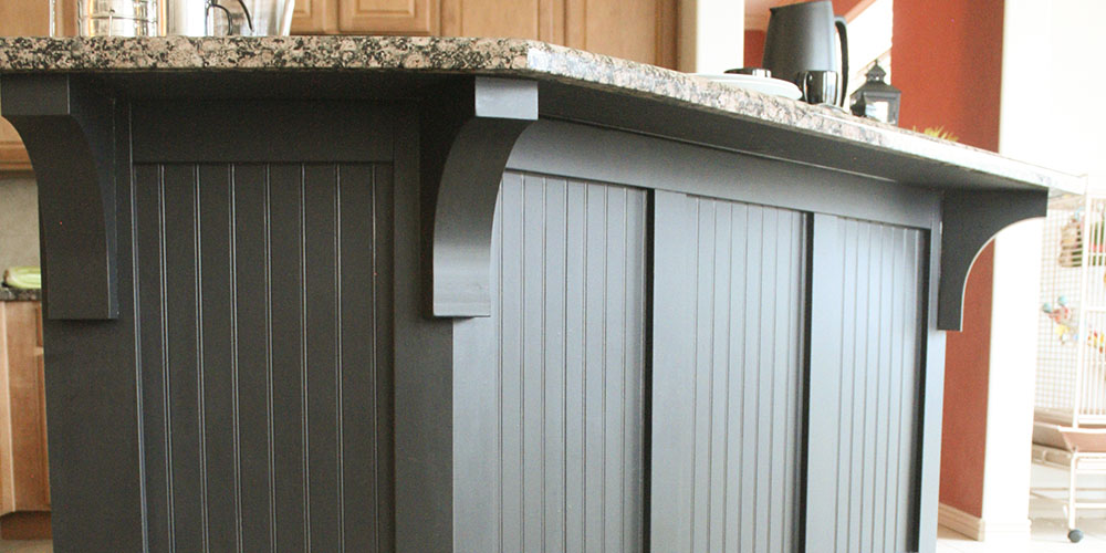 Kitchen Island Makeover With Corbels: Part Two