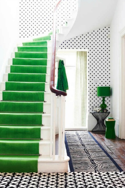 Adore Your Place emerald staircase