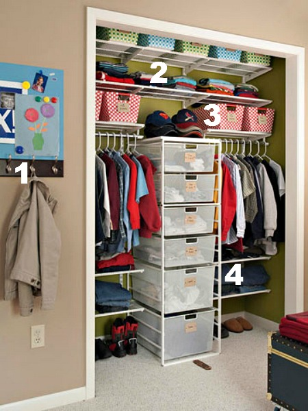 Closet Organization Tips ideas for organizing kids closets