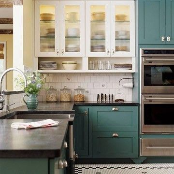 Charming BHu0026G Moody Blue Cabinets Good Looking