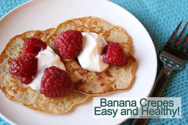 Banana crepes easy to make healthy breakfast