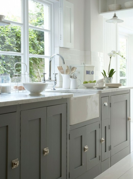 painted grey kitchen cabinets beautifully colorful painted kitchen cabinets 24357