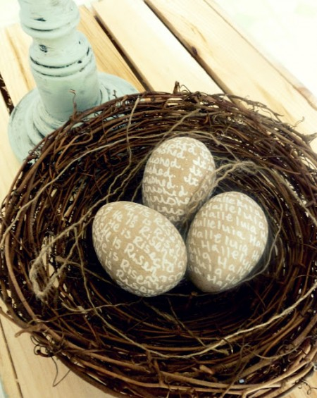 Burlap and Buttons true meaning easter eggs, Easter activities for kids via Remodelaholic