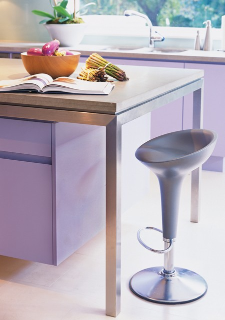 Canadian House & Home lavendar cabinetry