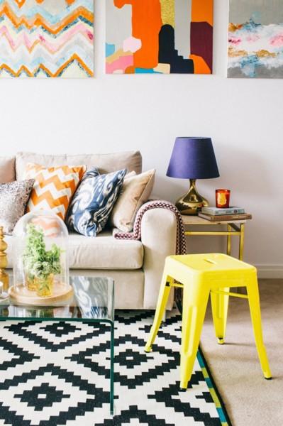 Sala de estar colorido