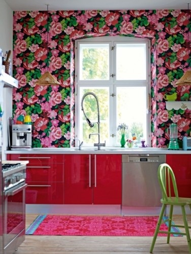 Decorista pink kitchen