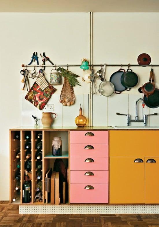 Design Lovefest pink & orange kitchen