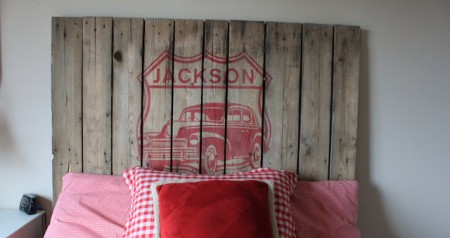 Design by Heidi pallet headboard