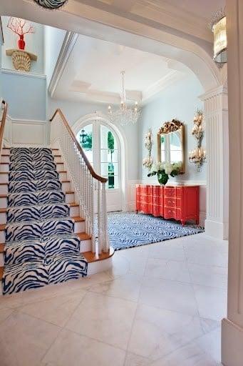 Foo Dog colorful staircase