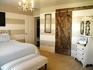 Remodelaholic | Master Bedroom Makeover with Sliding Barn Door
