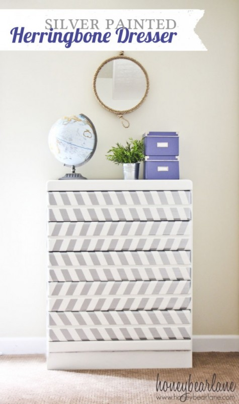 Honey Bear Lane herringbone dresser