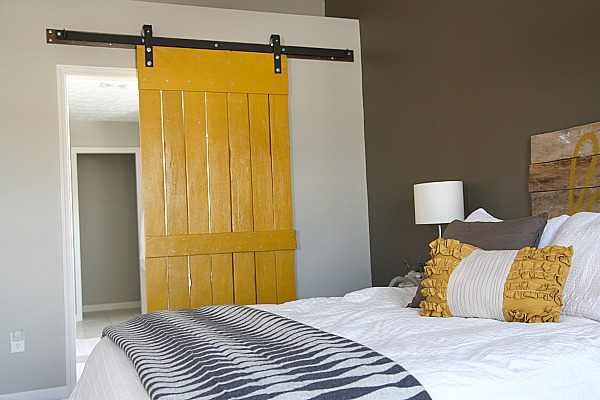 Remodelaholic | Master Bedroom Makeover with Sliding Barn Door