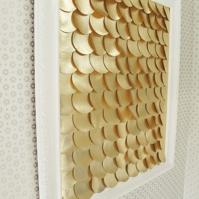 Unique Houzz fish scale wall art
