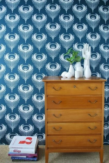 Houzz peacock wallpaper