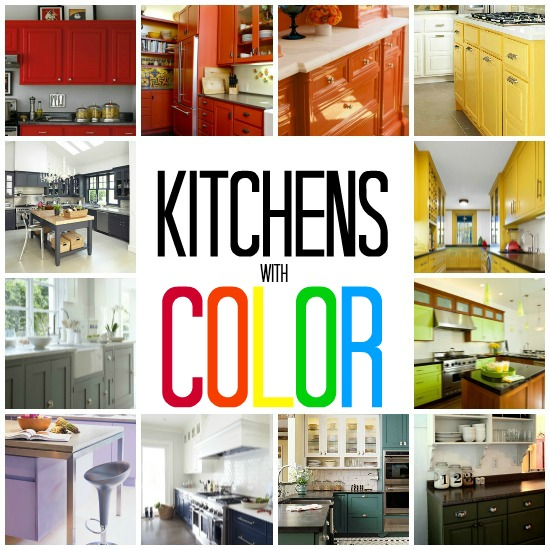 Beautifully colorful painted kitchen cabinets for Red kitchen paint ideas