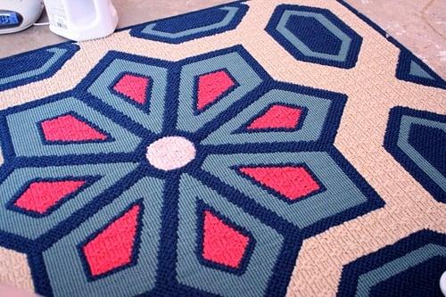 Living Room Flooring & Painting etta's Rug 022
