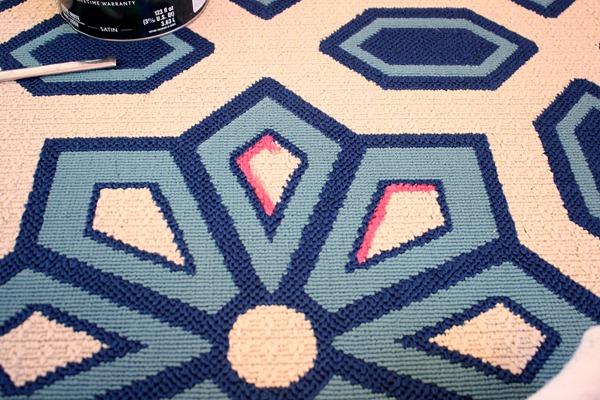 Living Room Flooring U0026 Painting Ettau0027s Rug ...