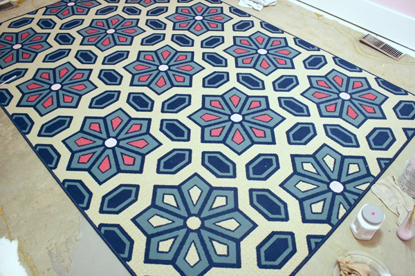 Living Room Flooring U0026 Painting Ettau0027s Rug 025