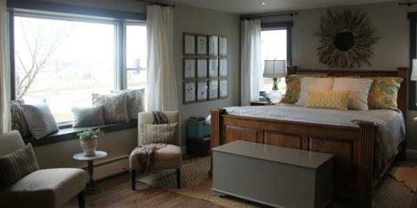 Master Bedroom Makeover with Sliding Barn Door