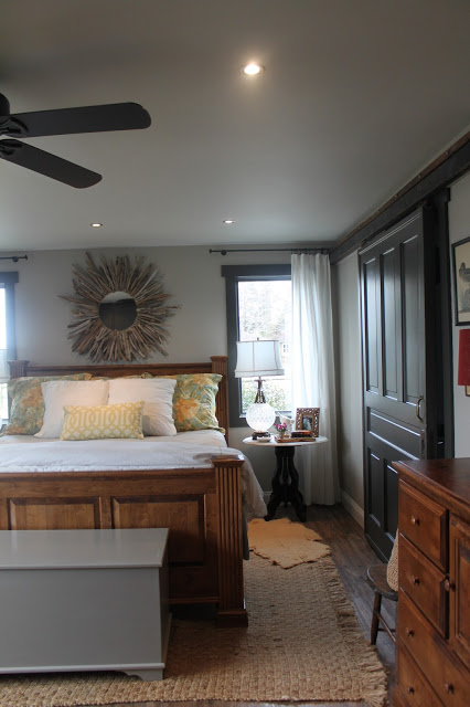 barn door bedroom. Maple Leaves and Sycamore Trees pic 16 Remodelaholic  Master Bedroom Makeover with Sliding Barn Door