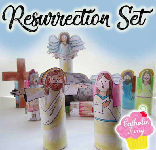 Printable Resurrection Set For Kids From Catholic Icing, Easter activities for kids Via Remodelaholic